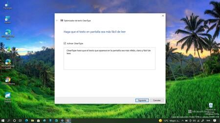 Así puedes activar ClearType, la función para mejorar la visibilidad en pantalla exclusiva de Windows 10