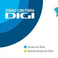 Digi está cada vez más cerca de la cobertura de fibra plena tras su llegada a Ávila, Cáceres y Jaén