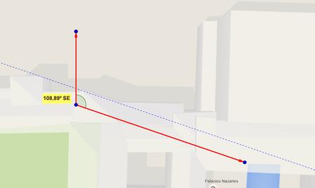 Imagen 5 27 Orientacion Del Oratorio Del Mexuar Con Los Mapas De Google
