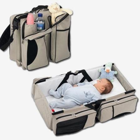 Bolso para el bebé y cuna de viaje: dos en uno