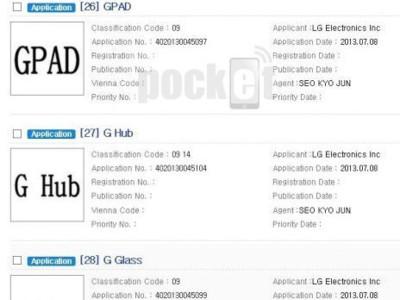 LG registra los nombres G Pad, G Watch y G Glass, entre otros, ¿nueva tablet y accesorios a la vista?