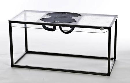 Una mesa de centro original y antidisturbios