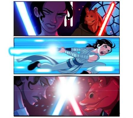 Un artista creó Star Wars 7.5 y le dio gusto a los fans matando a Jar Jar Binks