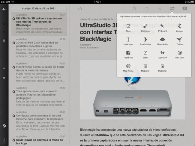 Foto de Lectores RSS para el iPad (18/20)