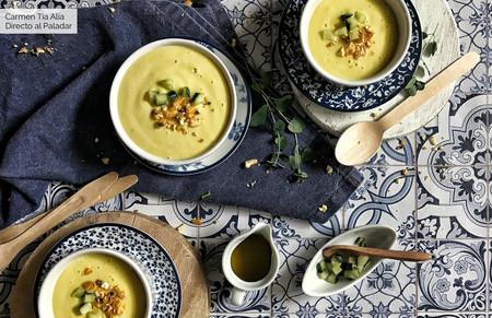 Gazpacho o sopa fría de mango, receta de verano con y sin Magimix Cook Expert