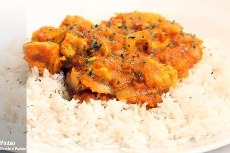 Receta de curry de mango con pollo