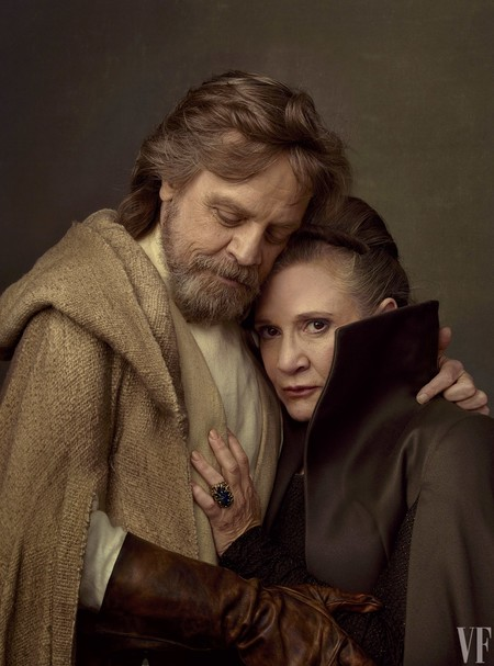 Mark Hamill con Carrie Fisher