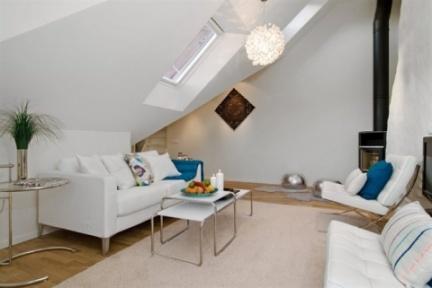 Casas que inspiran decorar un tico peque o y abuhardillado - Decorar duplex pequeno ...