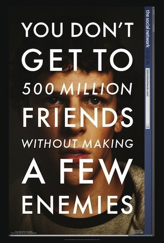'The Social Network', primer cartel de la película de David Fincher sobre Facebook