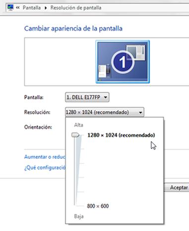 Resolucion Windows