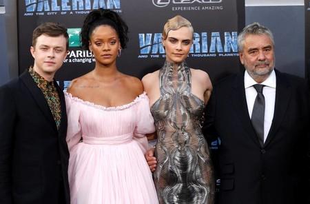 DeHaan, Rihanna, Delevingne y Besson