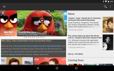 IMDb para Android se actualiza con Material Design