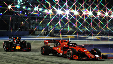 Leclerc Verstappen Singapur F1 2019