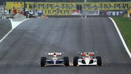 Mansell Senna Barcelona F1 1991