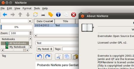 NixNote, cliente de Evernote multiplataforma, publica su versión 1.1