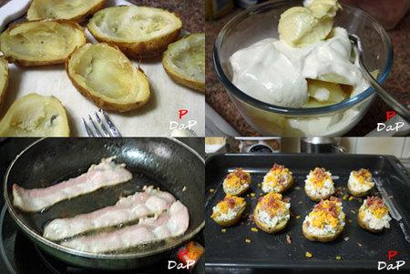 Hacer patatas asadas dos veces