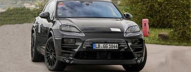 El Porsche Macan EV ya rueda en pruebas, e insinúa su parecido a Taycan en estas primeras fotos