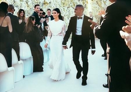 Kim y su vestido de novia