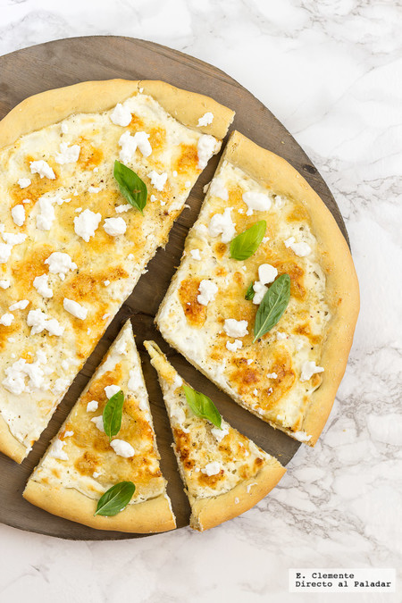Pizza blanca. Receta para no caer en la rutina