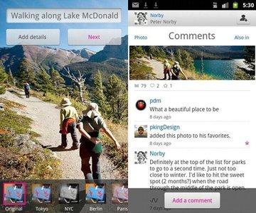 Flickr introduce aplicación para Android y nueva característica
