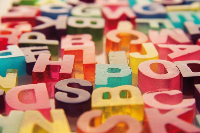 letras de gelatina