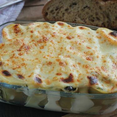Canelones de espinacas gratinados: una receta de pasta para disfrutar sin remordimientos (y aprovechar sobras)
