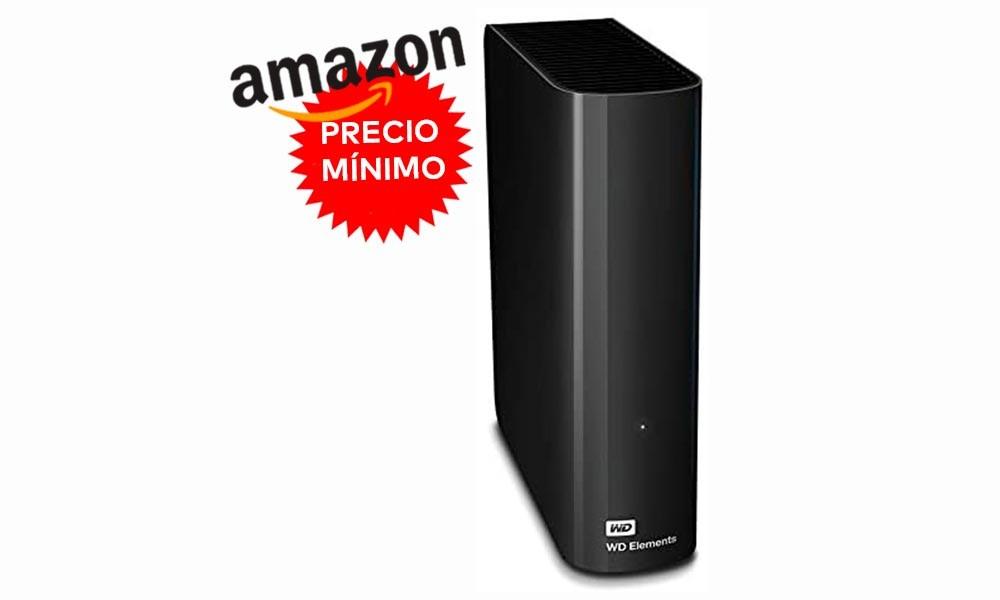 En Amazon, igualando oferta de MediaMarkt, tienes los 10 TB del disco duro de sobremesa WD Elements Desktop a precio mínimo, por 172,73