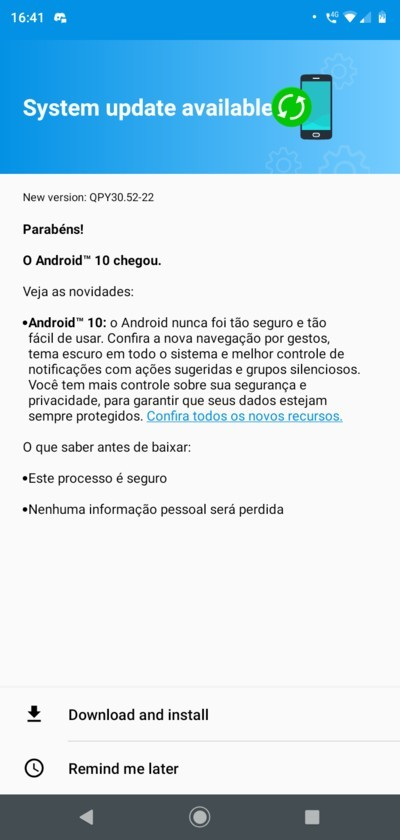 Moto G7 Play Android 10