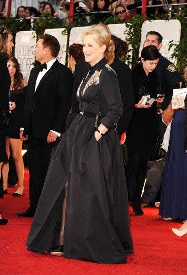 El look de Meryl Streep en los Globos de Oro 2012