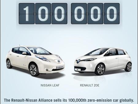 Renault y Nissan ya han vendido más de 100.000 vehículos eléctricos, más que el resto de la industria