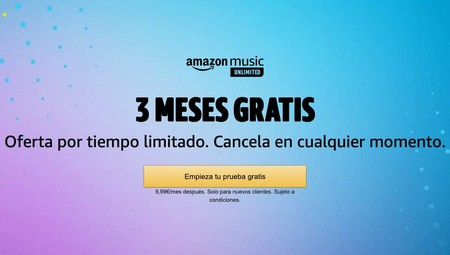 3 meses gratis Music Unlimited
