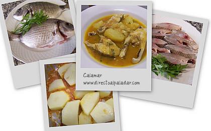 Suquet de peix. Collage
