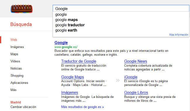 Buscando Google en Google