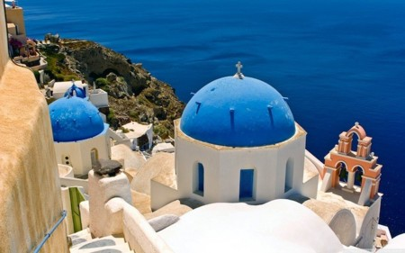 Greece Oia Santorini Wide Wallpaper 333426