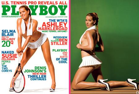 Ashley Harkleroad, una atrevida tenista en la portada de Playboy
