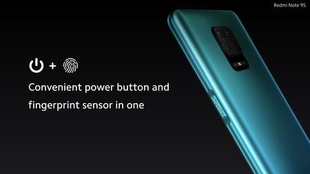 Xiaomi Redmi Note 9s Sensor Huellas Lateral