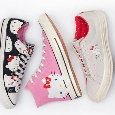 Hello Kitty X Converse, porque nunca se es demasiado mayor para llevar a la gata más millennial a nuestros pies