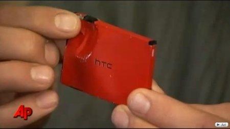 Un HTC Incredible detiene una bala y salva la vida de su dueño, la imagen de la semana