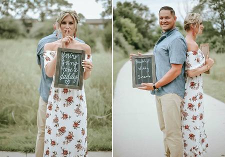 Sorprende a su pareja con una sesión de fotos anunciándole que será papá y su reacción nos encanta