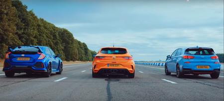 Honda Civic Type R vs Renault Megane R.S. vs Hyundai i30N: ¿cuál gana?