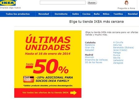 Hasta el 50 % de descuento en últimas unidades de Ikea