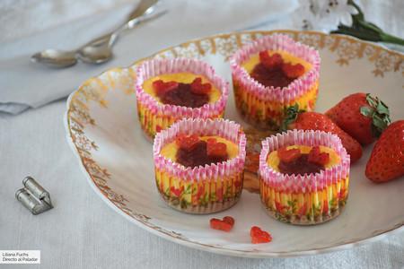 Mini cheesecakes de limón y fresa