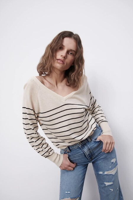 Zara Jersey Basico Rayas Marineras 06