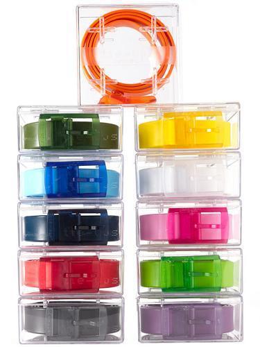 Coloridos cinturones ecológicos
