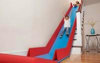 Un tobogán para bajar las escaleras de casa