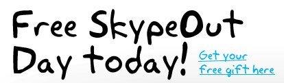 Primer día de llamadas gratis con SkypeOut es hoy