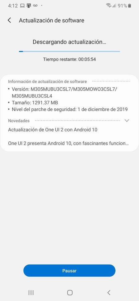 Samsung Galaxy M30 Actualizacion Android 10 One Ui 2 0 Mexico