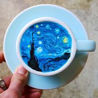 Comida de EsCultura: CreamArt, tazas de café convertidas en coloridas obras de arte