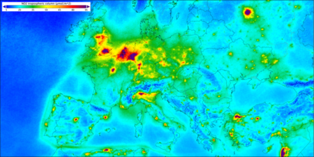 Nitrogen Dioxide Over Europe Node Full Image 2