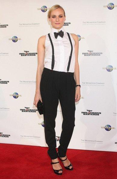 Blazer y pantalón para el día de la graduación Primavera-Verano 2010: las famosas evitan los vestidos. Diane Kruger
